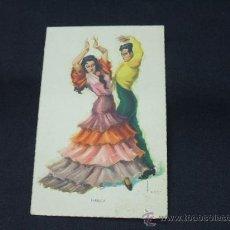 Postales: FOLKLORE ESPAÑOL - BAILES ANDALUCES - FARRUCA - . Lote 27017456