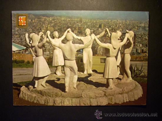 8934 ESPAÑA SPAIN CATALUÑA BARCELONA MONUMENTO A LA SARDANA AÑOS 70/80 ESCRITA - TENGO MAS POSTALES (Postales - Postales Temáticas - Estilo)
