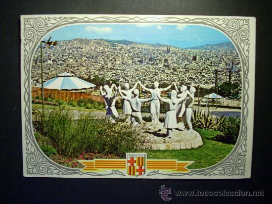8935 ESPAÑA SPAIN CATALUÑA BARCELONA MONUMENTO A LA SARDANA AÑOS 60 CIRCULADA - TENGO MAS POSTALES (Postales - Postales Temáticas - Estilo)