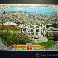 Postales: 8935 ESPAÑA SPAIN CATALUÑA BARCELONA MONUMENTO A LA SARDANA AÑOS 60 CIRCULADA - TENGO MAS POSTALES. Lote 24769250