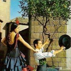 Postales: POSTAL A COLOR 5 BAILES TIPICOS ESPAÑOLES ESRITA 1963. Lote 25365748