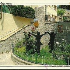 Postales: EL MASNOU - MONUMENT A LA SARDANA - COMERCIAL ESCUT D'OR - AÑOS 90. Lote 26385497