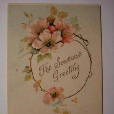 Cartes Postales: 108 PRECIOSA POSTAL FELICITACION DE CUMPLEAÑOS BIRTHDAY FLOR FLORES FLOWERS AÑOS 1900/20. Lote 28242156