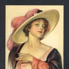 Postales: POSTAL ILUSTRADA ART DECO: MUJER (ED.EDWARD CROSS, STANLAWS NUM.9). Lote 28291787