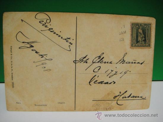 Postales: postal de 1908 franqueada con sello cubano de 1 centavo a la habana - Foto 2 - 29473912