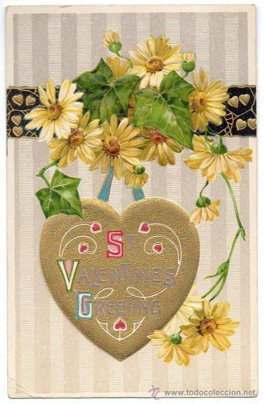 Postal De Felicitacion Día San Valentín Bonita Kaufen Alte Stil