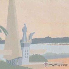 Postales: POSTAL MONUMENTO A JAUME I - SALOU - TARRAGONA - DIBUIX Mª TERESA ARAGONES. Lote 32128432