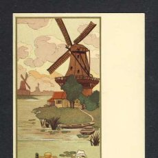 Postales: POSTAL ILUSTRADA MODERNISTA ART NOUVEAU: ESCENA HOLANDESA (ED. DE LA VEGETALINE). Lote 32677657