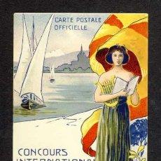Postales: POSTAL MODERNISTA ART NOUVEAU: CONCOURS INTERNATIONAL DE MUSIQUE DE GENEVE (SUIZA). Lote 32677673
