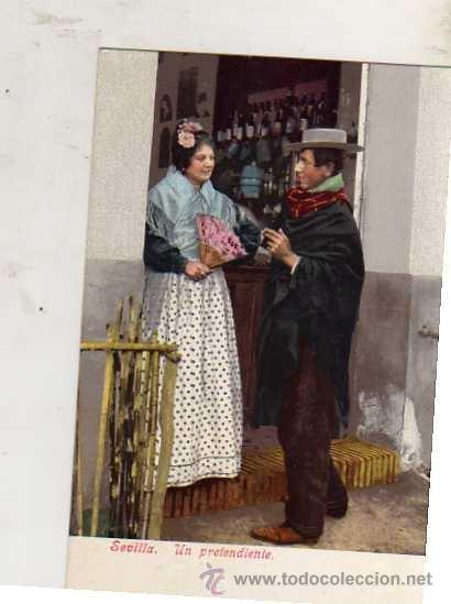 SEVILLA UN PRETENDIENTE COLECCIÓN TOMAS SANZ SIN CIRCULAR AÑO 1906 (Postales - Postales Temáticas - Estilo)