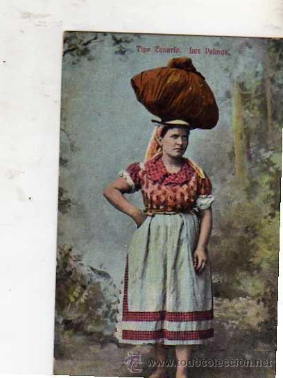 TIPO CANARIO. LAS PALMAS ESCRITA CIRCULADA SELLO MATASELLADA EN 1912 (Postales - Postales Temáticas - Estilo)