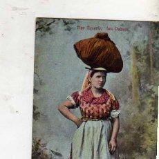Postales: TIPO CANARIO. LAS PALMAS ESCRITA CIRCULADA SELLO MATASELLADA EN 1912. Lote 32792469