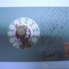 Postales: POSTAL MODERNISTA MUJER EN RELIEVE,SIN DIVIDIR,CIRCULADA 1903 SELLO. Lote 32861550