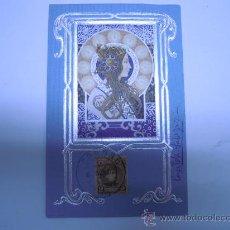 Postales: POSTAL MODERNISTA MUJER CON ADORNOS PLATEADOS EN RELIEVE,SIN DIVIDIR,CIRCULADA 1902 SELLO. Lote 32861580