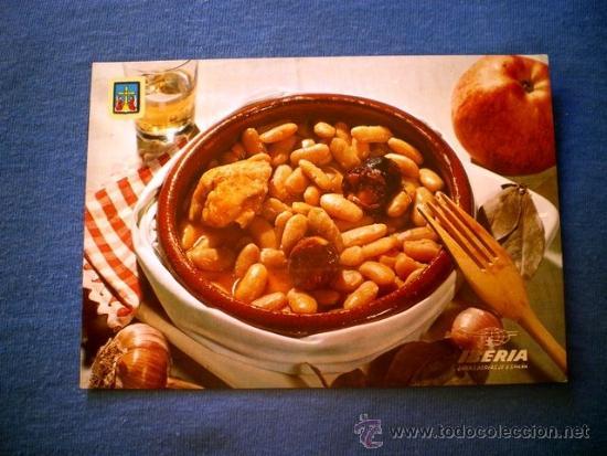 POSTAL IBERIA PLATOS TIPICOS Nº 5 FABADA ASTURIANA NO CIRCULADA (Postales - Postales Temáticas - Estilo)