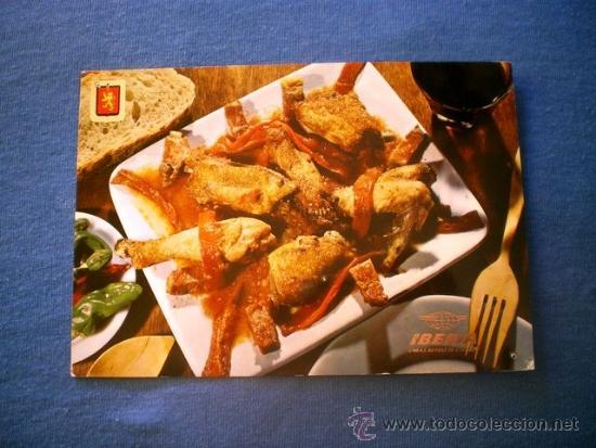 POSTAL IBERIA PLATOS TIPICOS Nº 9 POLLO AL CHILINDRON NO CIRCULADA (Postales - Postales Temáticas - Estilo)