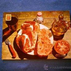 Postales: POSTAL IBERIA PLATOS TIPICOS Nº 13 PAN CON TOMATE Y JAMON NO CIRCULADA. Lote 36177643
