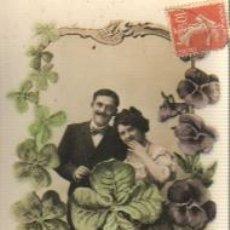 Postales: POSTAL MODERNISTA Y ROMANTICA - CIRCULADA EN 1904. Lote 36838719
