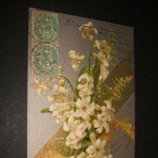 Postales: ANTIGUA POSTAL FELICITACION EN RELIEVE. Lote 38039466