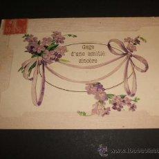 Postales: ANTIGUA POSTAL FELICITACION EN RELIEVE. Lote 38039472