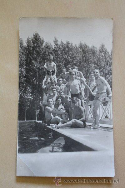 POSTAL. HOMBRES EN TRAJE DE BAÑO. JULIO 1928. (Postales - Postales Temáticas - Estilo)