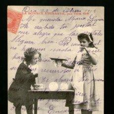 Postales: LA CIENCIA DIVERTIDA LA SCIENCE AMUSANTE DANSE DES BULLES DE SAVON - MATASELLO TARRAGONA MUY CURIOSA. Lote 39211623
