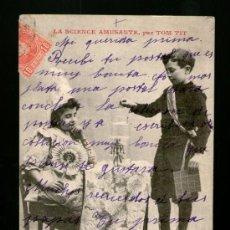 Postales: LA CIENCIA DIVERTIDA LA SCIENCE AMUSANTE LARMES DE CROCODILE - MATASELLO TARRAGONA MUY CURIOSA. Lote 39211640