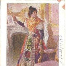 Postales: PS0984 CREACIONES FEMENINAS - LA CHARRA. ED. BLANCO Y NEGRO. CIRCULADA EN 1913. Lote 39200398