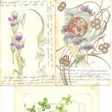 Postales: PS2971 LOTE DE TRES POSTALES MODERNISTAS - PRINCIPIOS S. XX. Lote 41039780