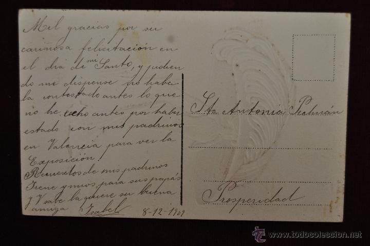 Postales: ANTIGUA POSTAL TROQUELADA DE PRINCIPIOS DE SIGLO XX. LA DERNIERE MODE. PERSONAJE FEMENINO. ESCRITA - Foto 2 - 43235905