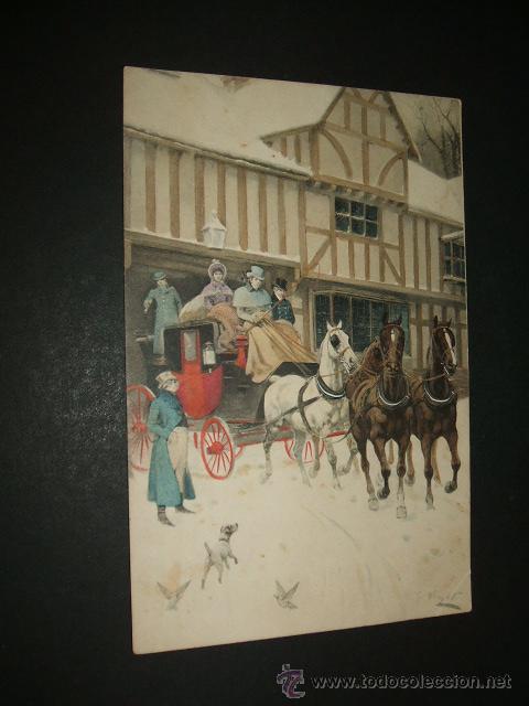 POSTAL 1910 DILIGENCIA COLECCION VIENNE Nº 478 (Postales - Postales Temáticas - Estilo)