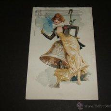 Postales: POSTAL MODERNISTA ART NOUVEAU MUJER. Lote 44224867
