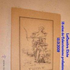Postales: ANTIGUO GRABADO, IMAGEN STA LUCIA Mª.. Lote 34437423
