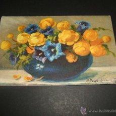 Postales: JARRON CON FLORES POSTAL ANTIGUA. Lote 44467018