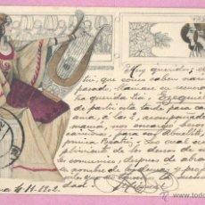 Postales: MUY BUENA Y BONITA POSTAL PURAMENTE MODERNISTA - 1902 - DE M.M. VIENNE. Lote 47389556