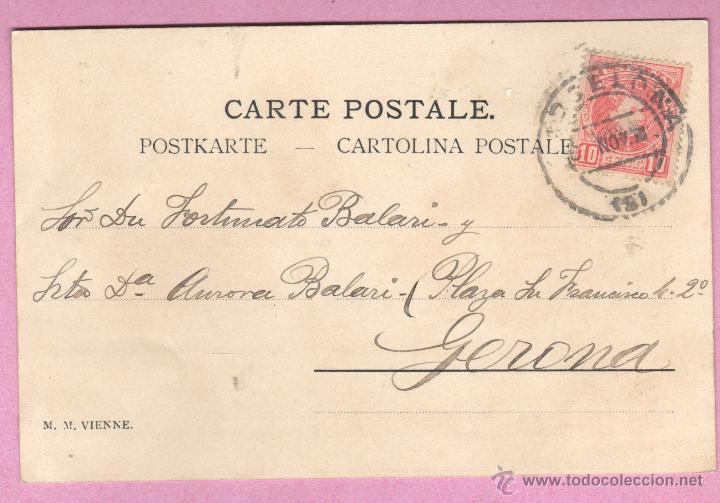 Postales: muy buena y bonita postal puramente modernista - 1902 - de m.m. vienne - Foto 2 - 47389556