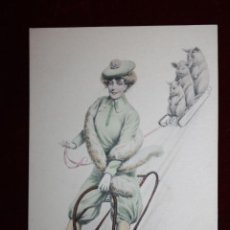 Postales: ANTIGUA POSTAL ESTILO MODERNISTA. MUJER. H. & L. VIENNA NR. 816. SIN CIRCULAR. Lote 47773009