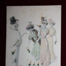 Postales: ANTIGUA POSTAL ESTILO MODERNISTA. MUJERES. H. & L. VIENNA NR. 816. SIN CIRCULAR. Lote 47773079