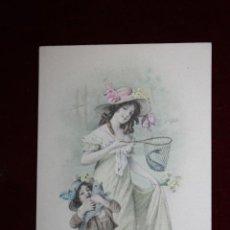 Cartes Postales: ANTIGUA POSTAL ESTILO MODERNISTA. MUJER CON NIÑO. M.M. VIENNE NR. 379. SIN CIRCULAR. Lote 47774742