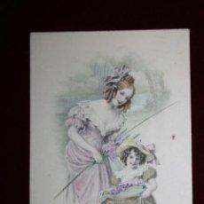 Cartes Postales: ANTIGUA POSTAL ESTILO MODERNISTA. MUJER CON NIÑA. M.M. VIENNE NR. 379. SIN CIRCULAR. Lote 47774825