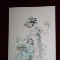 Cartes Postales: ANTIGUA POSTAL ESTILO MODERNISTA. MUJER CON NIÑA. M.M. VIENNE NR. 237. SIN CIRCULAR. Lote 47775484