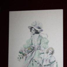Cartes Postales: ANTIGUA POSTAL ESTILO MODERNISTA. MUJER CON NIÑA. M.M. VIENNE NR. 237. SIN CIRCULAR. Lote 47775531