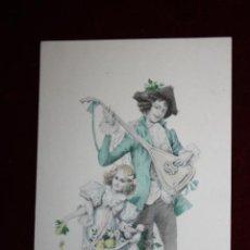 Cartes Postales: ANTIGUA POSTAL ESTILO MODERNISTA. HOMBRE CON NIÑA. M.M. VIENNE NR. 237. SIN CIRCULAR. Lote 47775557