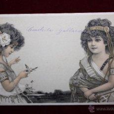 Postales: ANTIGUA POSTAL DE ESTILO MODERNISTA. ESCRITA. Lote 48804577