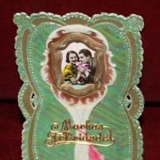 Postales: ANTIGUA POSTAL TROQUELADA DE ESTILO MODERNISTA. SIN CIRCULAR. Lote 48805394
