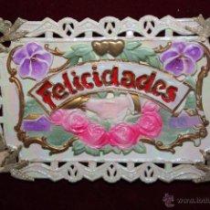 Postales: ANTIGUA POSTAL EN RELIEVE DE ESTILO MODERNISTA. SIN CIRCULAR. Lote 48845835