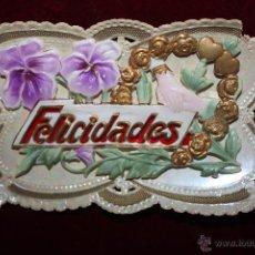 Postales: ANTIGUA POSTAL EN RELIEVE DE ESTILO MODERNISTA. SIN CIRCULAR. Lote 48846608
