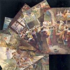 Postales: SERIE COMPLETA DE 8 POSTALES ILUSTRADAS POR GASPAR CAMPS (V.FOTOS ADIC). Lote 168356338