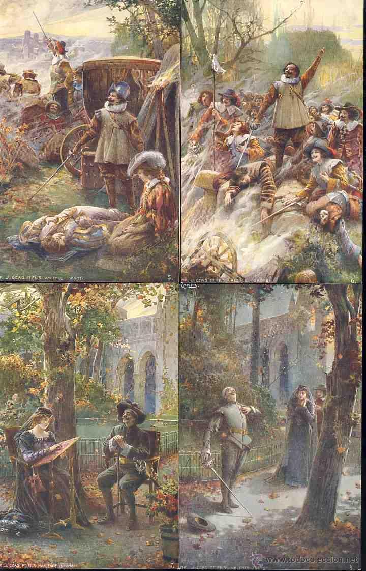 Postales: Serie completa de 8 postales ilustradas por GASPAR CAMPS (v.fotos adic) - Foto 3 - 168356338