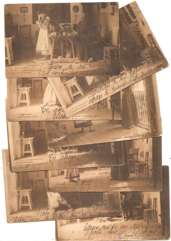 Postales: Colección Cánovas. Hauser y Menet. Dorso sin dividir. 14 postales - Foto 2 - 49276224